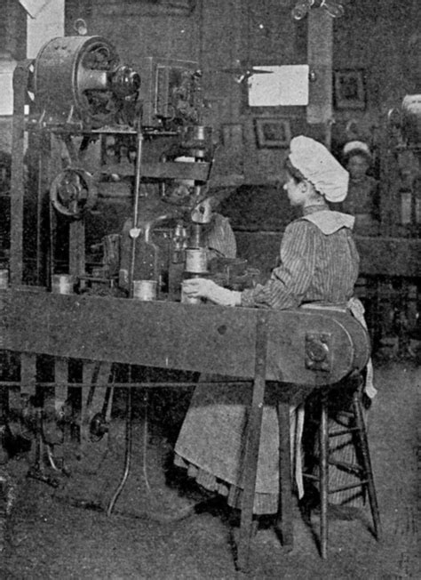 Factory Worker Description by File Can Factory Workers Crimping On Can Ends Published 1909 Jpg