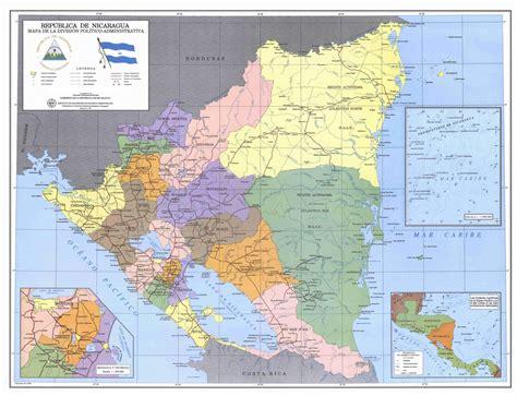 political map of nicaragua impressum