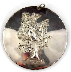 first edition towle sterling silver christmas ornament