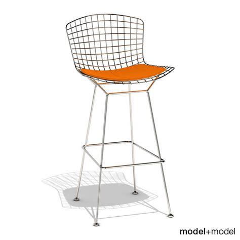 bertoia stuhl 3d bertoia barstool knoll stool model