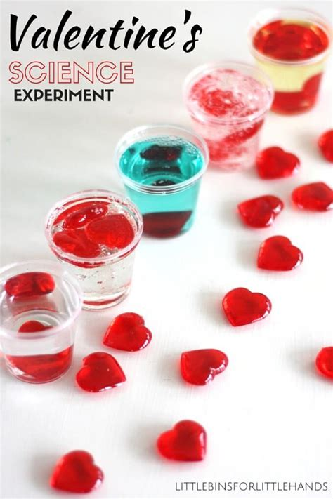 science themed valentines valentines day viscosity experiment and liquid density