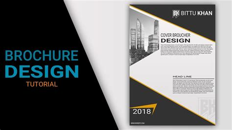 flyer design tutorial photoshop cs5 brochure design tutorial in photoshop cs6 cs3 cs5 youtube