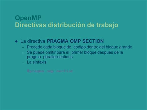 omp sections programaci 243 n con paralelismo impl 237 cito p 225 gina 3