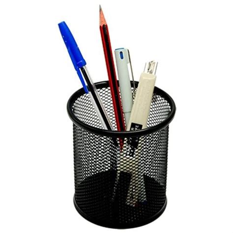 desktop pen holder classy wire mesh scissor pen pencil holder school office