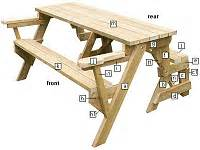 Building Plan For Convertible Picnic Table by Folding Bench To Picnic Table Instructions Page 5
