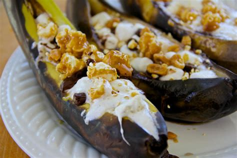 easy grilled banana dessert bar churro quesadillas smore stuffed banana boats and more toasty grilled desserts