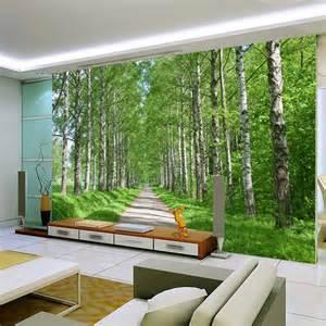 wall paper natural forest landscape perspective seamless wallpaper aquarium sticker smart designs
