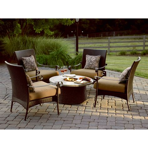 Firepit Chat Set Grand Resort Roscoe 5 Pc Firepit Chat Set Shop Your Way Shopping Earn Points On