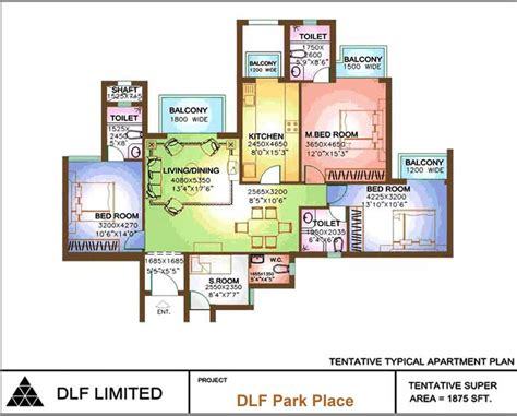 park place floor plans floor plan of dlf park place sector 54 gurgaon