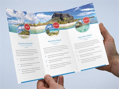 brochure travel agency tri fold template by artbart