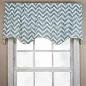 reston chevron scalloped window valance