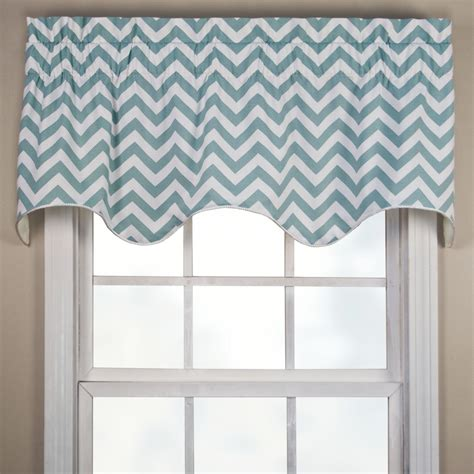 Scalloped Valances For Windows Decor Reston Chevron Scalloped Window Valance