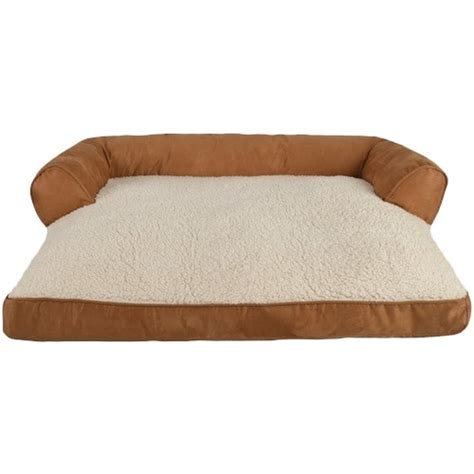 fake suede couch petspaces faux suede couch pet bed large brown 13511 01