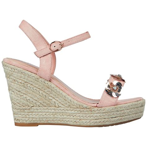 Wedges Flowers W 91 coleen womens high wedges heels platform espadrilles sandals shoes size ebay