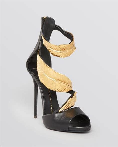black high heel evening shoes giuseppe zanotti platform evening sandals jeti high heel