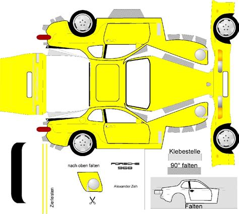 paper cars template paper model rennlist porsche discussion forums
