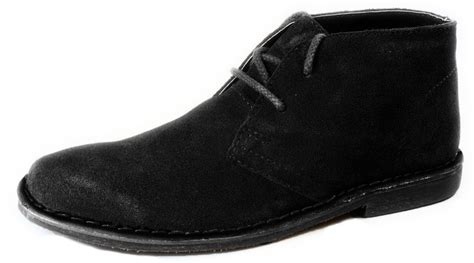 black suede desert lace up mens chukka gobi boots