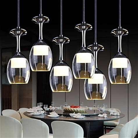 Led Dining Room Lights by 3wx6 Led Cup Wineglass Modern Led Pendant Light L With