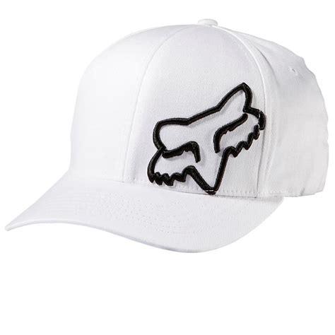 fox motocross hats fox racing flex 45 flexfit hat white 58379 flex fit