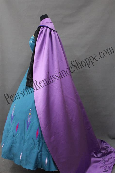 Set Gamis Frozen Elsa No 1 1 2thn frozen elsa coronation embroidery dress set