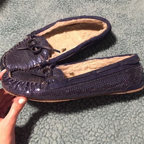 sox tab slippers 58 sox tab shoes blue sequined moccasins from