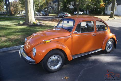 orange volkswagen 1972 volkswagen superbeetle bright orange great condition