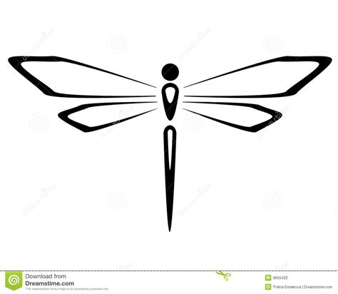 dragonfly stock vector illustration of vector painting