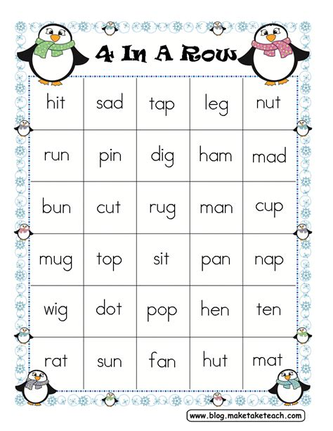 Elc Puzzle And Gameboard Days Of The Week grade cvc word list worksheets for all