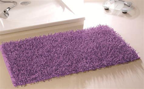 Teppich Flieder by Badematte Hochflorteppich Shaggy Badteppich Teppich Lila