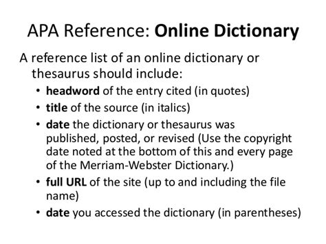 apa format definition research or proposal writing definition of terms