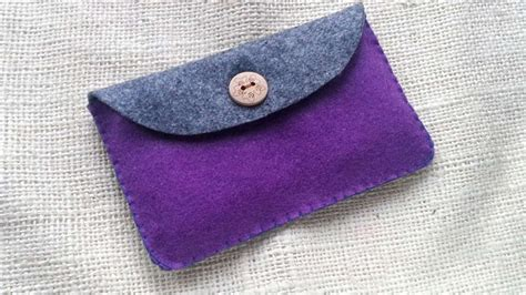 Fasy Small Flap Wallet Huer how to create a simple felt purse diy crafts tutorial