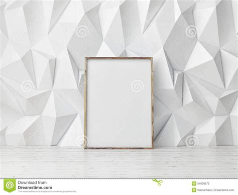 pattern mock up free poster mock up pattern white wall background 3d