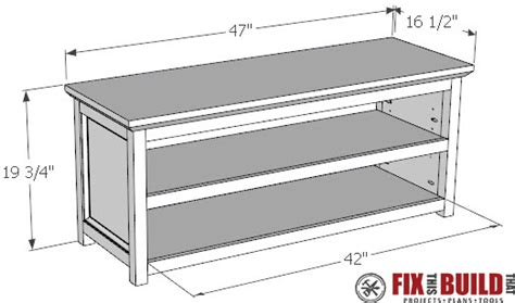bench with shoe storage plans diy entryway shoe storage bench fixthisbuildthat