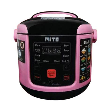 Sanoya Rice Cooker 1 Liter Pink jual mito r1 8in1 digital rice cooker pink 1 l