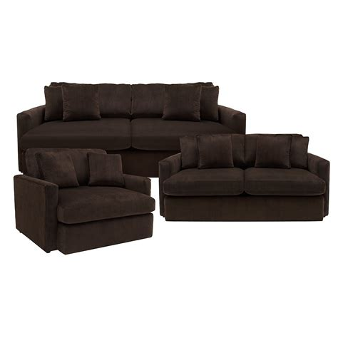 Loveseat Ottoman Brown Microfiber Sofa Glasgow Brown Elephant Skin Microfiber Sofa Sectional Thesofa