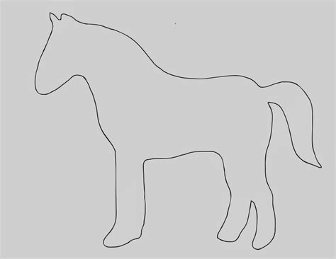 printable horse templates best photos of template of horse horse template