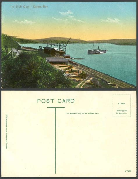 boat auction durban south africa old color postcard bluff quay durban bay