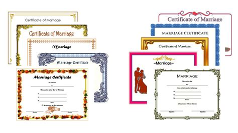 printable marriage certificate template editable marriage certificate template the best template