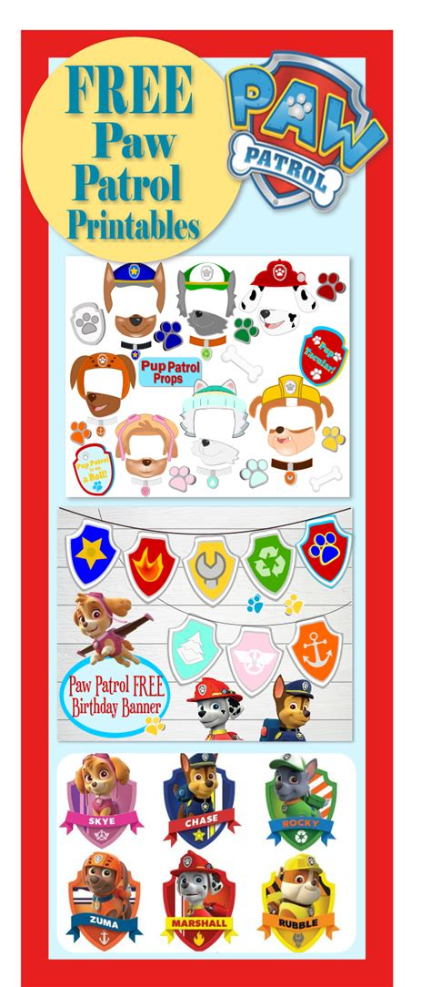 printable paw patrol birthday decorations paw patrol birthday party pup tastic ideas abbi