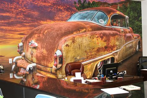Automotive Wall Murals classic car mural zilla wraps