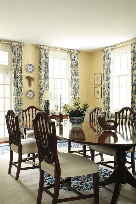 yellow dining room ideas window treatment ideas