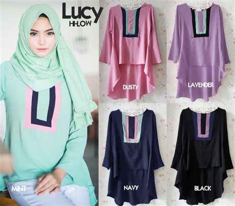 Baju Atasan Muslim Terbaru T54 Blus Wanita Tunik Modern Fashion Blouse gambar baju muslim f