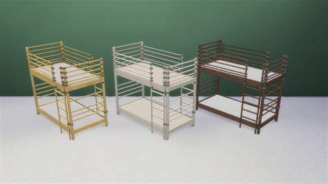 sims 4 bunk beds ts3 to ts4 dorm bunk bed for toddlers two versions