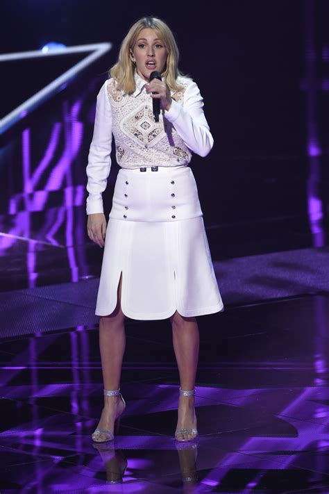 ellie goulding voice ellie goulding performes during the live show of the