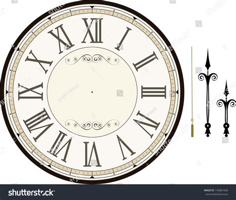 hour and minute template vintage clock template with hour minute and second