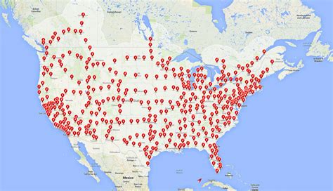 Tesla Charger Map Tesla Motors Charging Station Locations Get Free Image