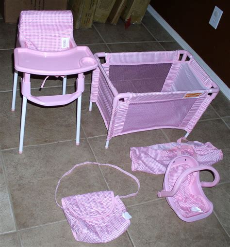 baby doll bed and highchair set badger basket baby doll furniture set high chair