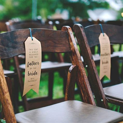 Wedding Ceremony Chairs by Make Your Own Wedding Ceremony Chair Quot Reserved Quot Signs