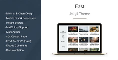 jekyll themes minimal east minimal and clean jekyll blog theme by aspirethemes