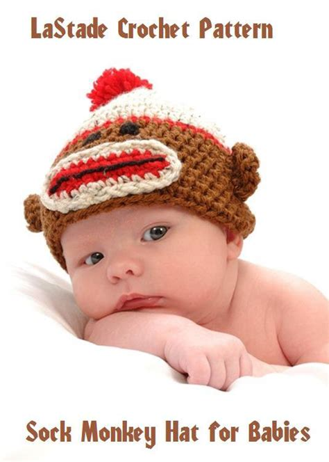 28 Crochet Pattern Sock Monkey Hat With Or By Crochetbydarleen